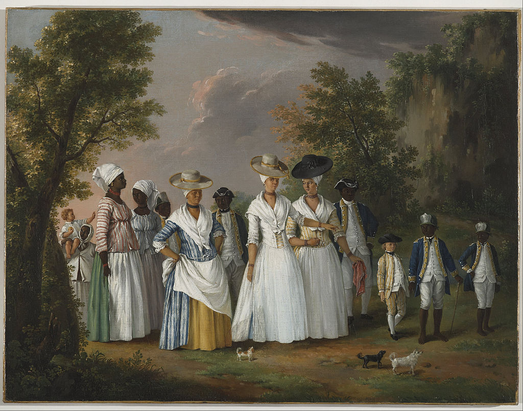 Agostino Brunias, Free Women of Color with their Children and Servants in a Landscape